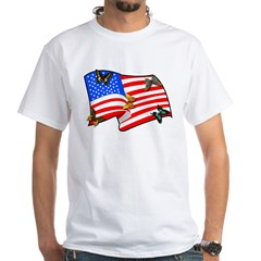 Patriotic USA Earth White T-Shirt