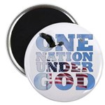 """One Nation Under God"" 2.25"" Magnet"