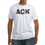 Nantucket Massachusetts ACK Airport Fitted T-Shirt