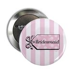 "Bridesmaid Bow 2.25"" Button (10 pack)"