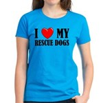 Love My Rescue Dogs Women's Dark T-Shirt