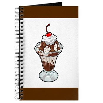 Chocolate Fudge Ice Cream Sundae Journal