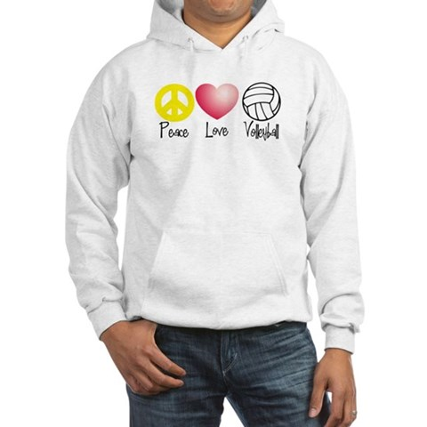Peace, Love, Volleyball Hoodie