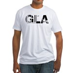 Glasgow Airport Code GLA Scotland Fitted T-Shirt