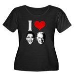 I Heart Obama Biden Women's Plus Size Scoop Neck D