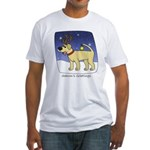 Reindeer Yellow Lab Fitted T-Shirt
