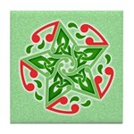 Celtic Christmas Star Tile Coaster