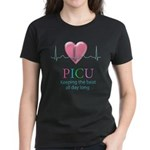 PICU Keeping the beat all day Women's Dark T-Shirt