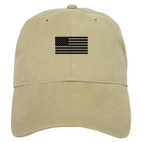 Hats With Subdued American Flag