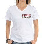 Code Brown! Women's V-Neck T-Shirt