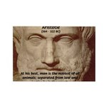 Greek Philosophers: Aristotle Rectangle Magnet (10