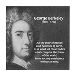 Irish Idealist: George Berkeley Tile Coaster
