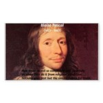Mathematician: Blaise Pascal Rectangle Sticker