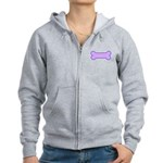 Subtle Dog Bone Women's Zip Hoodie