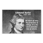Edmund Burke Rectangle Sticker