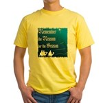 """Remember the Reason"" Yellow T-Shirt"
