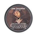 Philosopher: Rene Descartes Wall Clock