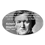 Musician Richard Wagner Oval Sticker