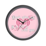 Twilight Valentine Heart Wall Clock