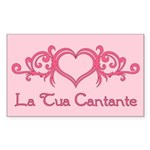 La Tua Cantante Rectangle Sticker