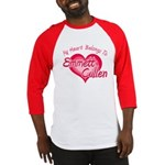 Emmett Cullen Heart Baseball Jersey