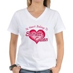 Emmett Cullen Heart Women's V-Neck T-Shirt