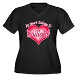 Heart Belongs Twilight Women's Plus Size V-Neck Da