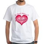 Heart Belongs Twilight White T-Shirt