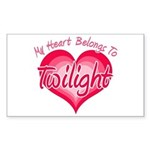 Heart Belongs Twilight Rectangle Sticker 10 pk)