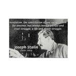 Joseph Stalin Revolution Rectangle Magnet (100 pac