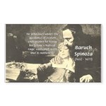 Rationalist Baruch Spinoza Rectangle Sticker