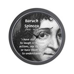 Philosopher Baruch Spinoza Wall Clock