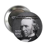 "Evolutionist Herbert Spencer 2.25"" Button (100 pac"