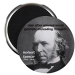 "Evolutionist Herbert Spencer 2.25"" Magnet (100 pac"