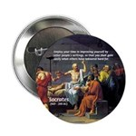 Socrates: Knowledge Books Wisdom Button