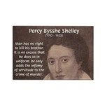 Writer Percy Bysshe Shelley Rectangle Magnet