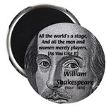 Playwright William Shakespeare Magnet