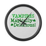 Vampires Magically Delicious Large Wall Clock