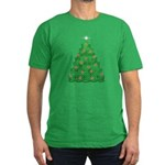 Celtic Christmas Tree Men's Fitted T-Shirt (dark)