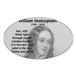 Tragic Love: Romeo and Juliet Oval Sticker