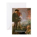Hamlet Famous Soliloquy Greeting Cards (Package of