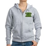 Irish You Were Beer Shamrock Women's Zip Hoodie