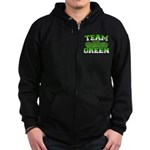 Team Green Zip Hoodie (dark)
