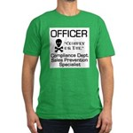 Compliance Officer Men's Fitted T-Shirt (dark)