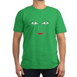 Green Eyes Face Men's Fitted T-Shirt (dark)