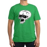 Screaming Skull Men's Fitted T-Shirt (dark)