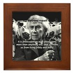 Bertrand Russell Philosophy Framed Tile