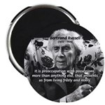 "Bertrand Russell Philosophy 2.25"" Magnet (100 pack"