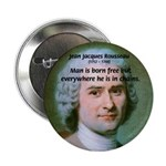 "Philosopher Rousseau 2.25"" Button (100 pack)"