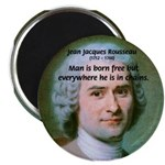 "Philosopher Rousseau 2.25"" Magnet (100 pack)"